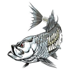 decals Pisces Tattoo Designs, Pisces Tattoos, Fish Tattoos, Sport Fishing, Fishing Tips, Bass Fishing, Fish Artwork, Fish Skeleton, Tribal Animals