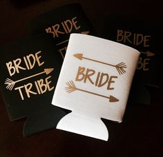 Bride tribe bachelorette party can coolers / tribe can coolers / bachelorette party favors / fast shipping by TheBridesLastBash on Etsy