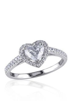 Belk  Co.  1 ct. t.w. Diamond Engagement Heart Ring in 14k White Goldb