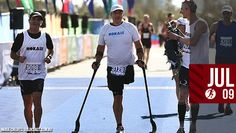 Can you imagine running an entire marathon on crutches? That's just what this inspirational athlete did.