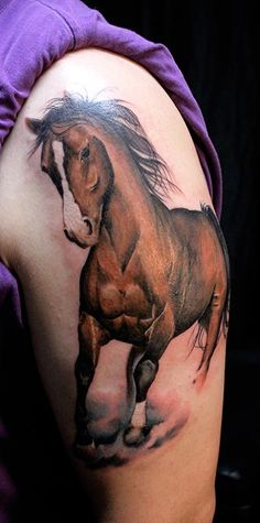 horse tattoo love this! Would be epic if it was Renegade instead