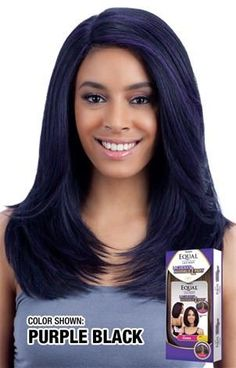 Equal Jannie wig Purple And Black, Color Show, Equality, Wigs, Hair Styles, Africa, Collection, Hair Wigs, Hairdos