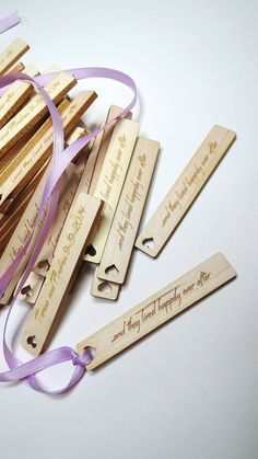 50 .5 x 3 Custom Wood Tags Gift Tags Wedding Tags by GrainDEEP