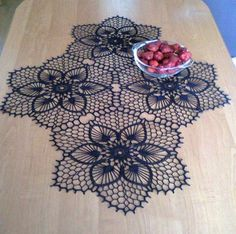 One of the most beautiful crochet works I have ever seen. Crochet Doily Patterns, Thread Crochet, Filet Crochet, Crochet Motif, Irish Crochet, Crochet Designs, Crochet Doilies, Crochet Flowers, Crochet Stitches