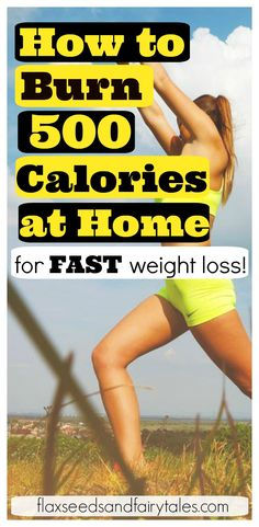 Burn 500 calories at home for fast and easy weight loss! Learn how to burn 500 calories a day with awesome activities and workouts you can do at home.  Use cardio and full body exercises to burn fat and get healthy now! #burn500calories #weightloss #workoutathome #burncaloriesathome #athomeworkout #HIIT