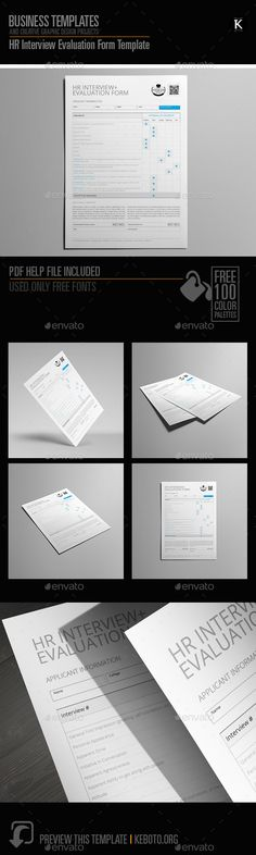 Hr Interview Evaluation Form Us Letter  Cmyk  Print Ready