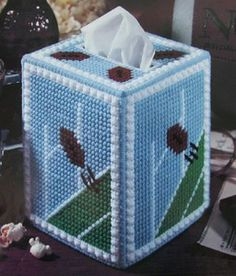 Football Plastic Canvas Patterns   Just for Football Fans Plastic Canvas Pattern Boutique Tissue Box ... Plastic Canvas Stitches, Plastic Canvas Tissue Boxes, Plastic Canvas Patterns, Needlepoint Patterns, Perler Patterns, Nfl Football Helmets, Football Fans, Football Season, Box Patterns