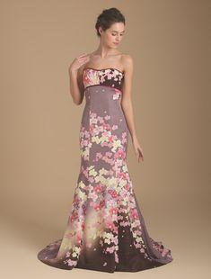 Wedding dress, if high quality wedding dress W by Watabe Wedding / kimono dress · silk · purple · mermaid