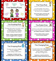 spelling rules chart | Love 2 Teach: Five Spelling Rules Posters ... | Instructional Cha...