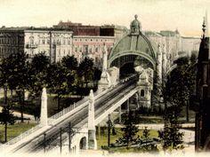 !Bereits vor dem Krieg war der Bahnhof Nollendorfplatz eine wichtige Station im Berliner Westen, um 1910.