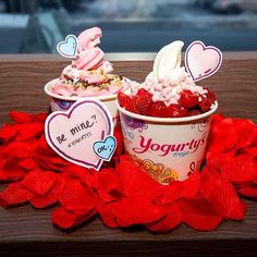"""@Yogurty's Froyo's photo: """"How can we say no?  Happy Valentine's Day! #froyogram"""""""