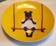 """Adrian Gomez Guzman 12"""" Colorful Ceramic Platter Plate Caribe Cromatico"""