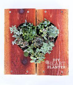 DIY HEART PLANTER DIY Heart Planter - Freutcake