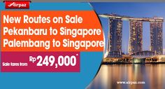 New Routes Promo ! Introducing New Route from Singapore to Palembang & Pekanbaru, Indonesia Grab Special Promo for new routes from Jetstar on Airpaz http://ow.ly/RJ2V6  #CheapFlights #NewRoute #Jetstar #Airpaz #Singapore #Indonesia #Promo #Travel #TravelAddict #Sale #Discount #Pekanbaru #Palembang #Asia #Flight #InternationalFlights #Backpacker #Backpacking #Holiday #Trip