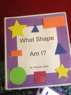 Tactile book of shapes for students who are blind or visually impaired.