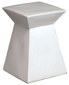 This is a modern take on an ancient tradition. The geometric design of this garden stool makes it fresh and interesting. Dimensions:  12'' x 18'' H