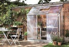 Idee voor aan het tuinhuisje.