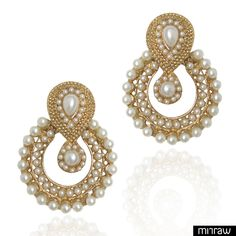 Beautiful pearl studded earrings