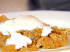 What to do with leftover holiday turkey & sweet potatoes?  Make this yummy breakfast dish! I like my eggs over easy instead of poached. Poached Eggs with Herb-Roasted Turkey Breast and Sweet Potato Hash from FoodNetwork.com