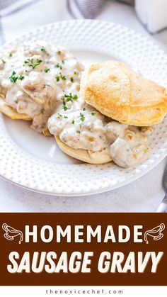Brunch Recipes, Breakfast Recipes, Breakfast Ideas, Savoury Dishes, Food Dishes, Homemade Sausage Gravy, Easy Gravy Recipe, Quick Meals, Frugal Meals
