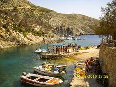 The small harbor of Porto Vromi beach, Zakynthos island, Ionian sea, Greece Olympus, Greece, Sea, Island, Beaches, Porto, Greece Country, Sands, The Ocean
