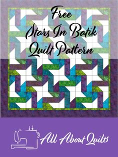 A free quilt pattern based on the nine patch block and suited to the beginner quilter. Two cutting guides given so you can choose how you want to assemble each block. Batik Quilts, Jellyroll Quilts, Lap Quilts, Strip Quilts, Beginner Quilt Patterns, Quilting For Beginners, Quilt Patterns Free, Free Pattern, Quilting Designs