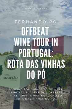 Since readers often ask me for suggestions of things to do near Lisbon, I did all the hard research and found an offbeat wine tour in Portugal that you probably haven't heard about. Rota das Vinhas do Pó takes you on a semi-scenic train ride from Lisbon to meet and greet wine-producing families at the tiny village of Fernando Pó, 40 minutes from the Portuguese capital. #RotaDasVinhasDoPo #Winetravel #vinoplease