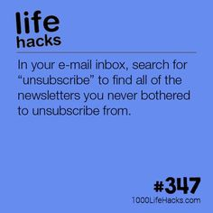 The post Clean Up Your Email Inbox appeared first on 1000 Life Hacks. hacks Clean Up Your Email Inbox Life Hacks) Simple Life Hacks, Useful Life Hacks, Life Hacks Websites, Hack My Life, Computer Help, Computer Tips, Life Hacks Computer, Computer Online, 1000 Lifehacks