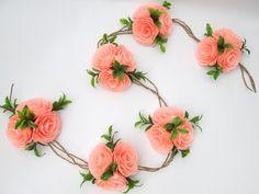 Wedding Garland/Paper Flowers/Wedding Arch/Table by LandofFlowers