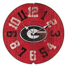 University of Georgia Vintage Round Wall Clock