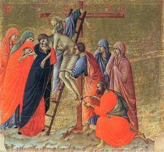 Descent from the Cross, 1308, Duccio di Buoninsegna Medium: wood, tempera
