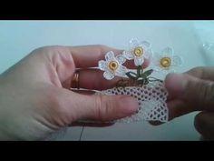 Papatyalı havlu ucu modeli yapim videosu - YouTube