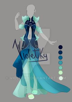 :: Adoptable Outfit: Ocean Queen AUCTION CLOSED :: by VioletKy.deviantart.com on @DeviantArt