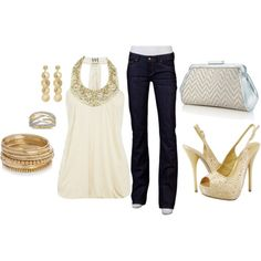 Gold for girls night outfit