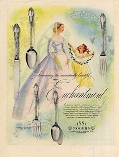 - 1881 Rogers Silverplate Ad Enchantment (1952)
