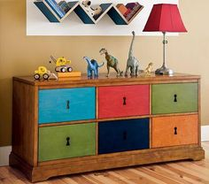 upcycle drawers with leftover paint