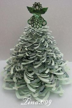 3D Christmas Tree & Angel.......SVG