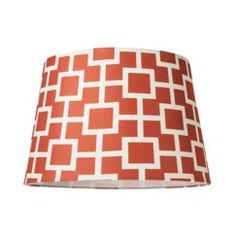 Coral Geometric Design Lamp Shade// For hanging pendant light in living room?