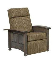Amish Burlington Recliner Amish Burlington Recliner. Plush and very handsome for quality nap time. Comes in choice of wood, finish and upholstery. Also available in leather.#DutchCrafters