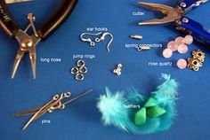 WonderWomom: DIY: Feather Earrings