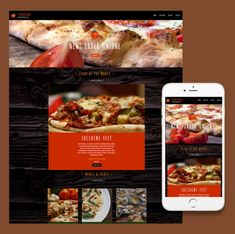 Responsive website template by ItSoEzi for a restaurant or take out place.