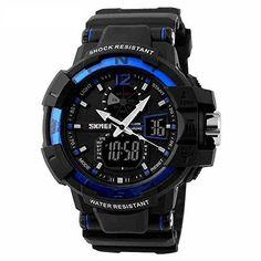 harwish Herren Kletterhose Digital Quarz Shock Military Multifunktions LED Sport Uhren blau - http://uhr.haus/harwish/harwish-herren-kletterhose-digital-quarz-shock
