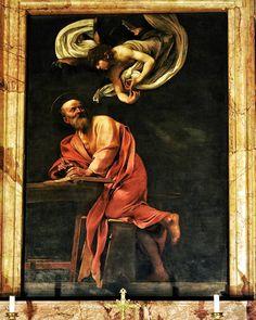 St. Matthew and the Angel - Painted by: Caravaggio - San Luigi dei Francesi - Roma  #photobydperry #loves_united_europe ##wp #Italia_super_pics #ig_italy #ig_rome #pocket_family #spgitaly #igerslazio #loves_united_italia #ilikeitaly #italia_dev #pocket_Italy #gallery_of_all #total_Italy #loves_united_team #yallerslazio  #italy_hidden_gem #igw_italy #fdnf #lazio #ig_lazio_  #ig_lazio #nikontoday #unlimitedrome #my_rome #thehub_italia #gallery_of_all #super_roma_channel #instatravel