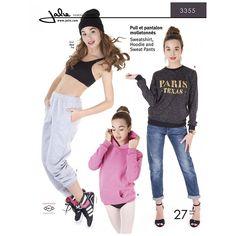 Sweatshirt, Hoodie and Sweat Pants Jalie Sewing Pattern 3355.