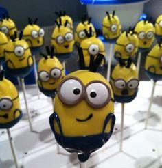Minion cake pop