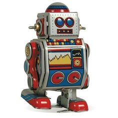 Robot Tin Toy | Vintage and Retro Space Age Raygun, Rocket and Robot Toys…