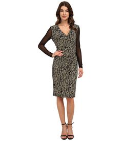 Anne Klein Anne Klein  Printed Jersey VNeck Side Drape with Hardware Combo Womens Dress for 84.99 at Im in! #sale #fashion #I'mIn