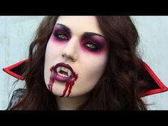 Vampire Halloween makeup. Check out Julia Graf on youtube!