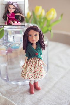 love her little boots and sweater! Bespoke Bratz/ Fashion doll repaint YOUR OWN by BlossomandFriday