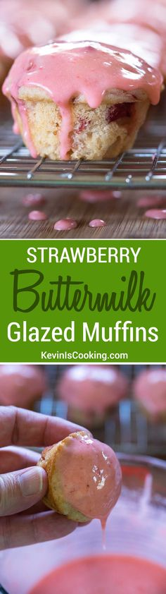 These Strawberry Buttermilk Glazed Muffins are addictive, but in a good way. Brought these to a party and they were gone in minutes. Next time I'll double the batch.